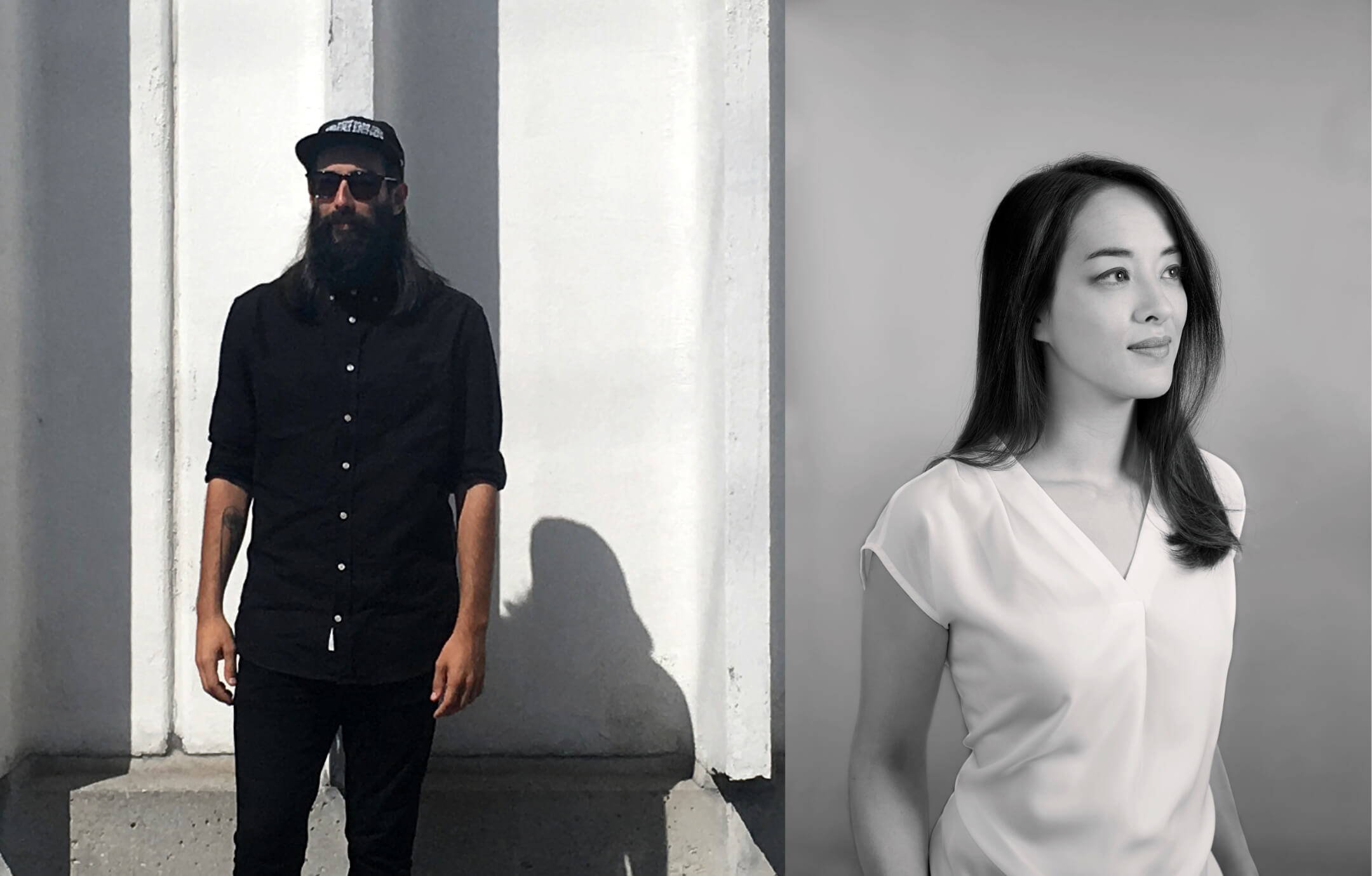 Portraits of Étienne Aubert Bonn and My-Lan Thuong
